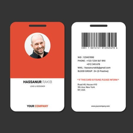 Vertical Id Cards