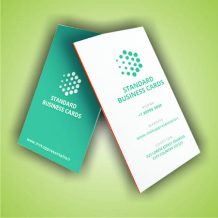 Standard Visiting Cards (Vertical 54x92mm)