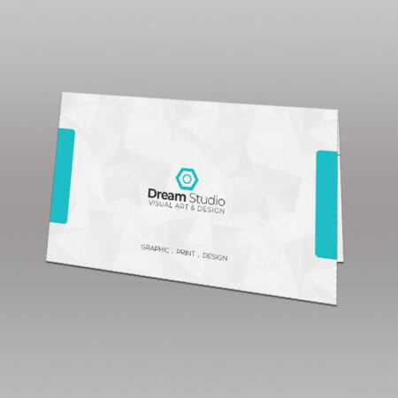 Folded Visiting Cards (Horizontal 92x54mm)